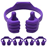 Cell Phone Tablet Stands (Pack of 5): Honsky Thumbs-up Cellphone Holder, Tablet Bildschirm Stand, Mobile Smartphone Mount Cradle for Desk Desktop - Universal, Multi-Angle, Cute, Purple