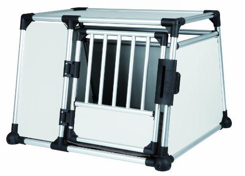 Trixie 39343 Transportbox, Aluminium, L: 93 × 64 × 81 cm, Silber/Hellgrau