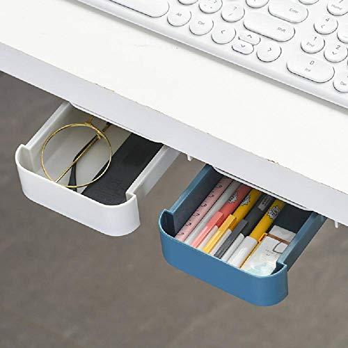 N\C Escritorio Creativo Caja de Almacenamiento de papelería Escritorio de Oficina Soporte de bolígrafo de Pasta Oculta Inferior Debajo de la Caja de lápices de Escritorio