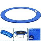 AufuN Trampolin Randabdeckung Ø305 cm Federabdeckung Randschutz aus PVC PE für Trampolin, UV-beständig Reißfest, 30cm Breit, Blau