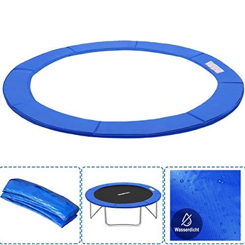 Cubierta para borde de cama elástica de PVC para trampolín, resistente a los rayos UV, 30 cm de ancho, color azul y multicolor, Para camas elásticas de 244-250 cm de diámetro, color azul.