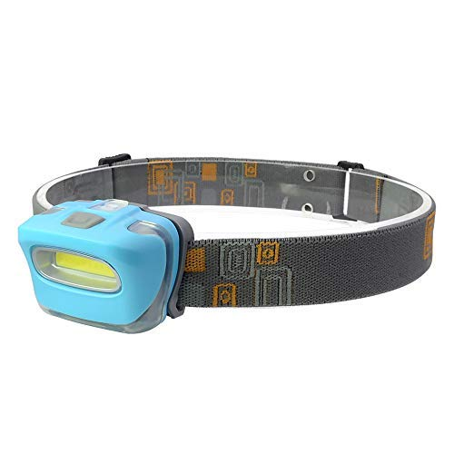 Witmoving LED Headlamp Headlight with 3 Light Modes Adjustable Angle AAA Battery Powered Lightweight Bright Headlamp Flashlight for Running, Reading, Hiking, Caving, Camping (Blue 1pack)