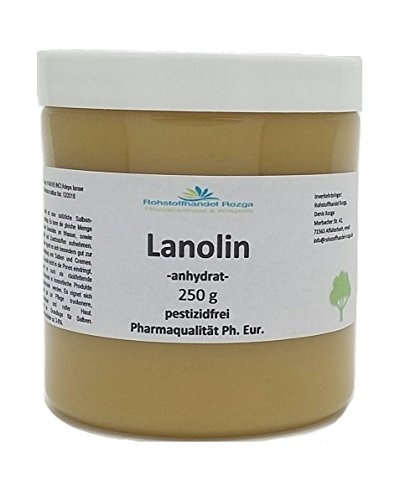 Lanolin anhydrat 250 g pestizidfrei Ph. Eur. 9.0 Wollwachs Wollfett lanea apes Salbengrundlage lanolin anhydrid wasserfrei