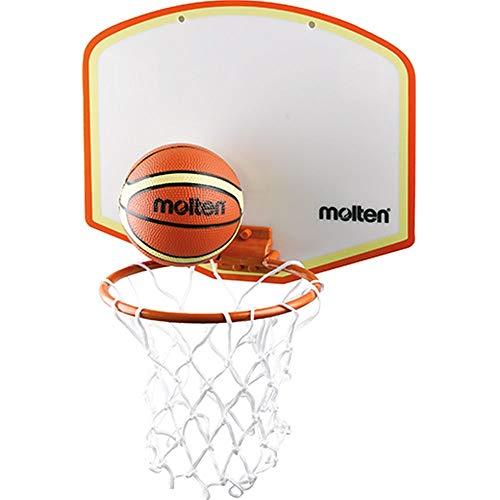 Molten Unisex's Mini Adhesive Mount Basketball Set, Multi-Colour, 280 x 155 mm Board/90 Balls/160 mm Ring
