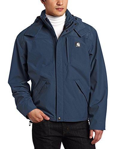 Carhartt Shoreline Jacket Abrigo para lluvia, Navy, M para Hombre