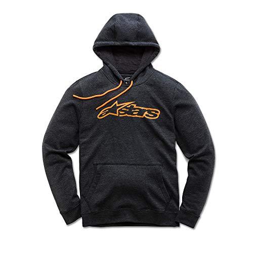 Alpinestars Blaze Fleece Pull zippé Coupe Moderne avec Logo imprimé Homme Blaze Fleece Charcoal Heather/Orange FR: M (Taille Fabricant: M)