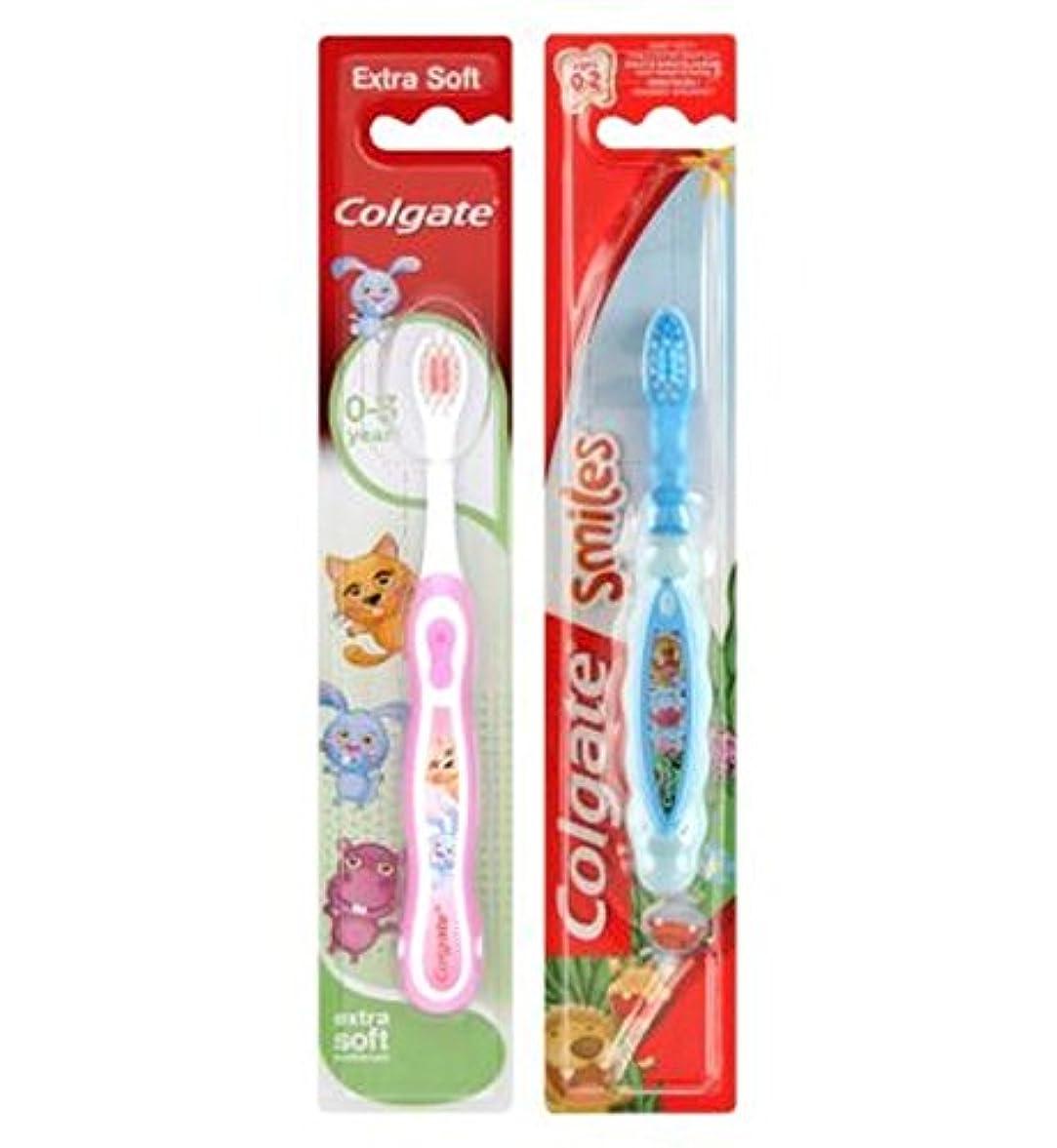 耐える村バースコルゲート私の最初の歯ブラシ (Colgate) (x2) - Colgate My First Toothbrush (Pack of 2) [並行輸入品]