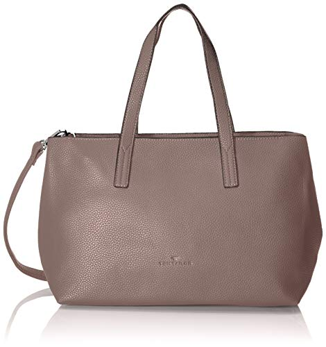 TOM TAILOR Shopper Damen, Marla, Pink (Old Rosé), 34x21x12 cm, TOM TAILOR Schultertasche, Handtaschen Damen