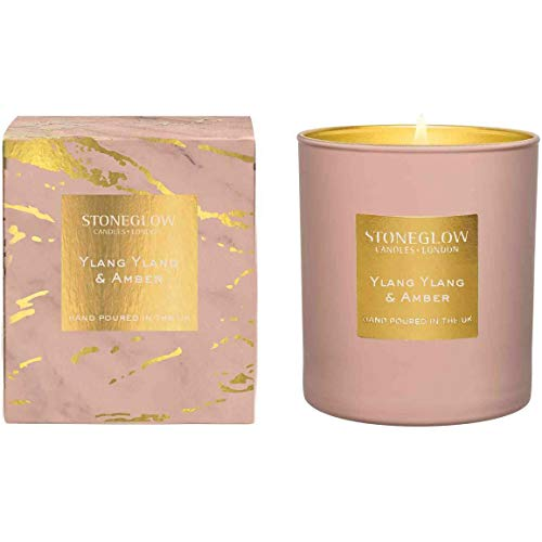 StoneGlow Luna Ylang Ylang & Amber Candle in Glass Tumbler
