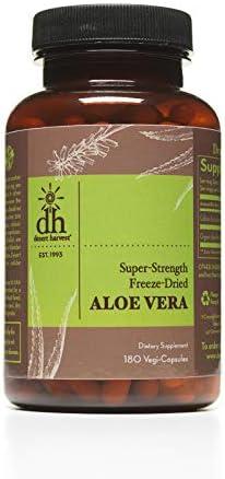 Desert Harvest Super Strength Aloe Vera Capsules 180 Capsules w 600mg per Capsule product image