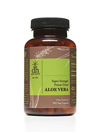 Desert Harvest Super-Strength Aloe Vera Capsules (180 Capsules w/ 600mg per Capsule)