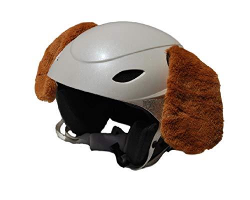 Orejas Perro marrón Claro en Peluche para Casco de esquí, Casco de...