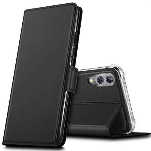 GEEMAI für Xiaomi Black Shark 2 Hülle, handyhüllen Flip Hülle Wallet Stylish mit Standfunktion & Magnetisch PU Tasche Schutzhülle passt für Xiaomi Black Shark 2 Smartphone, Schwarz