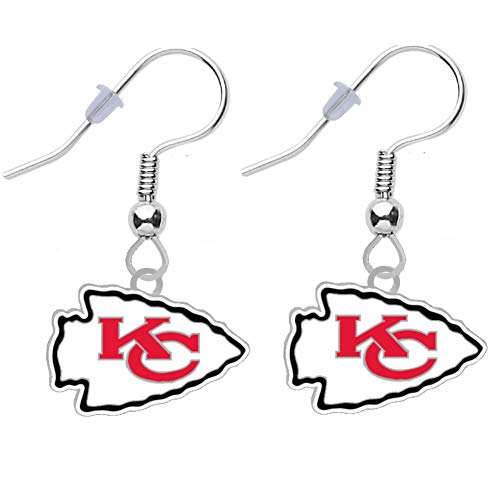 Kansas City Chiefs Logo Earrings Pierced
