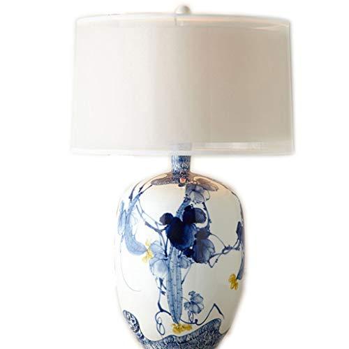 Viqie Chinesische Tischlampe Schlafzimmer Nacht Kreative Tinte chinesischen Gemälde Klassik New Chinese Schlafzimmer Wohnzimmer Personality Keramik Nacht Zähler Lampe