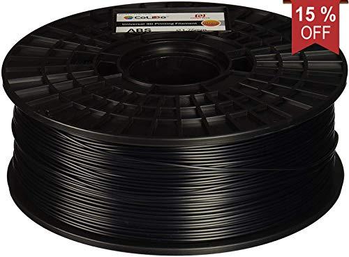 CoLiDo LFD001B 3D Printing Filament ABS 1.75mm Spool Black, 1Kg