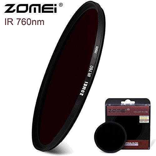 Flycoo Zomei IR 760 nm - Filtro de lente de infrarrojos de cristal político para Canon Nikon Sony Fuji etc DSRL SRL cámara digital