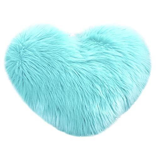 VJGOAL Encantador en Forma de corazón Funda de Almohada Suave y cómodo sofá de Felpa Funda de cojín decoración del hogar(40_x_50_cm,Multicolor9)