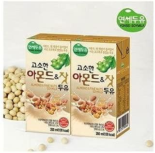 Yonsei Almond & Pine Nuts Soymilk; 16 packs; 1 pack, 200 ml(6.76 fl oz) - 연세우유 고소한 아몬드 & 잣 두유