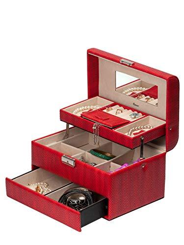 IsmatDecor Caja Joyero Color Rojo S-6125M-RB