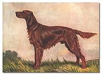番号キットによるデジタル絵画DIYフレームレスペイント大人と子供のための番号によるアイリッシュセッター犬のペイントDIY油絵ギフトキット