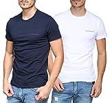 Emporio Armani Underwear - Tee Shirt 111267-8a717 Pack De 2 17935 Marine/Blanc - Couleur Bleu -...