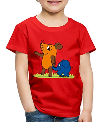 Sendung Mit Der Maus Elefant Und Maus Hand In Rüssel Kinder Premium T-Shirt, 98-104, Rot