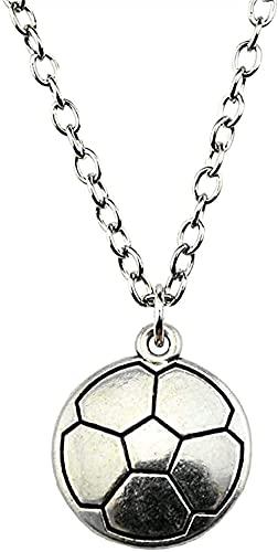 YOUZYHG co.,ltd Halskette Dropshipping Willkommen 22x19mm Fußball Anhänger Halskette Antik Silber Farbe Halskette