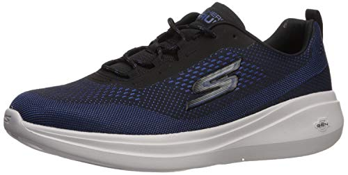 Skechers Men's GO Run FAST-55105 Sneaker, Black/Blue, 9 M US