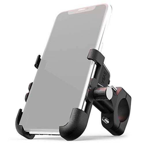Suporte para Celular iPhone Moto Bike Giratório 360 Em Alumínio