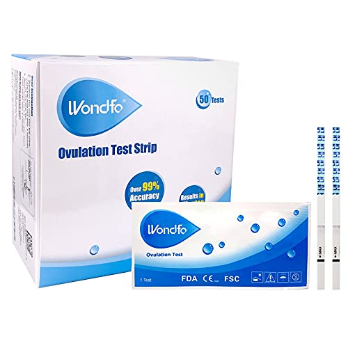 Wondfo Ovulation Test Strips Predictor Kit Detecting LH Surge - Highly Sensitive at Home Test Kit (50 Count) - W2-S50