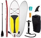 BAOFI Tabla Paddle Surf Hinchable, Paddle Surf Hinchable Kayak Ultra Estable Y SúPer Ligera, Tabla De Surf De 6 Pulgadas De Espesor para Deportes AcuáTicos,Red