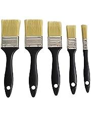 TIITAN X Set de 5 brochas planas de pintura con diferentes tamaños 50,40,25,13.mm.Para mayor precisión.