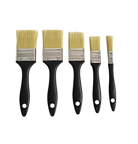 Set de 5 brochas planas de pintura con diferentes tamaños 50,40,25,13mm