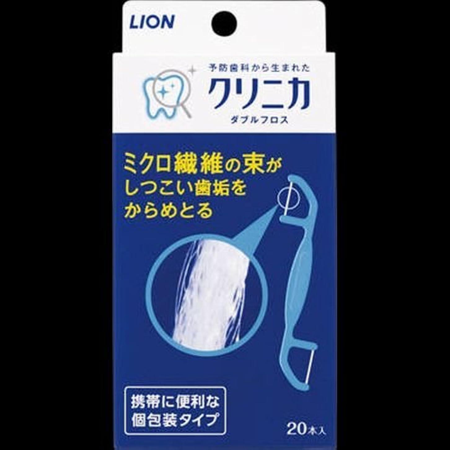 窓を洗う体シーンクリニカ ダブルフロス 20本 ×2セット