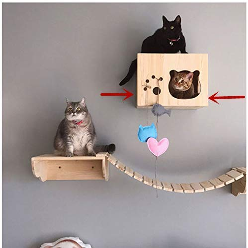 Tardo Wall-Mounted Cat Shelf Cat Houses Cat Hammock Cat Perch Wooden Bed Step Modern Cat Wall Furniture