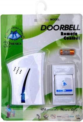 MOBONE Wireless Doorbell Door Bell Chime it with LED Indicator Door Calling Bell Door Bell for Home/Office/Warehouse/Factories Long Range Bell Color (Multicolor)
