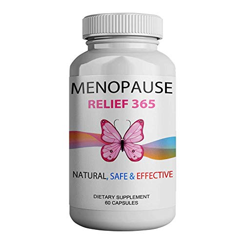 Natural Menopause Supplements for Women, Menopause Relief 365 and Hormone Balance for Women - Black Cohosh Menopause Complex - Hot Flashes And Night Sweats Supplements Provides Menopause Support