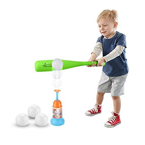 cherrysong T-Ball Set, Training Automatic Launcher Baseball Set,Triple Splash T-Ball Set, Batter Training Aid,Baseball bat,Baseball Launcher,3xbaseball,Color Box,Best Gift for Children