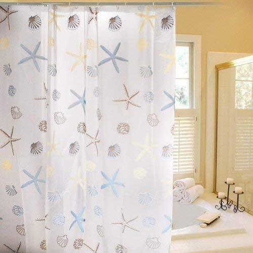 Cortinas Baño,Cozyswan PEVA cortinas de baño con ganchos 182 cm X 182 cm