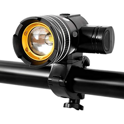 Luces De Bicicleta Luces De Bicicleta Led Luces De MTB Recargables USB Luces De Bicicleta Delanteras De Aleación De Aluminio con Base Desmontable para Bicicletas