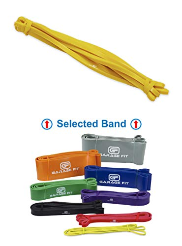 Garage Fit Pull up Assist Band - WOD Band, Resistance Pullup Band, Mobility Band, Assisted Pull up Band, Pull Up Band (#0 Yellow (XXS) 2-15 lbs. 1/4')
