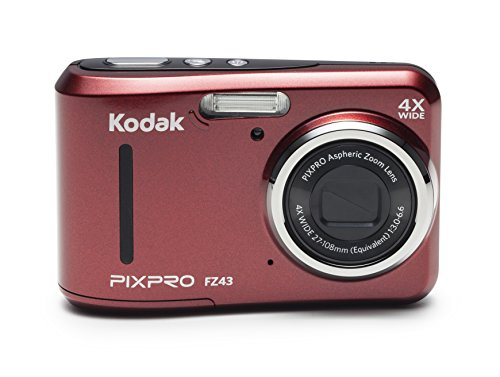 Kodak PIXPRO Friendly Zoom FZ43-RD 16MP Digital Camera with 4X Optical Zoom and 2.7'...
