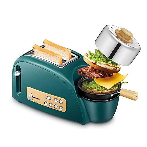 RANRANJJ Desayuno máquina tostadora de acero inoxidable de la rebanada - 3 en 1 Bandeja de horno de cocina tostadora Grado - Las ranuras extra anchas for pan panecillo con función de descongelación de