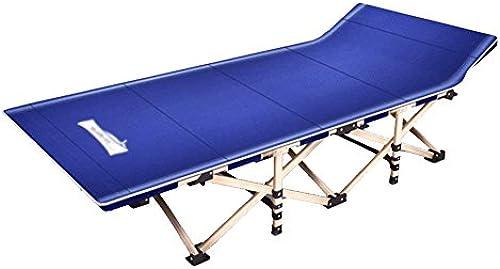WJJH Sonnenliege LiegestuhlRelaxsessel & -Liegen Outdoor Liegestuhl Verst ung Klappbett Siesta Einzelbett Büro Klappstuhl MittagSpaßse Einfache Camp Bett 150 kg Blau