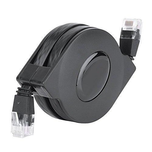 CAT6-Ethernet-Kabel, ultraflach, verstellbar, einziehbar, CAT6, RJ45, LAN-Netzwerkkabel, Patch, geschirmt, flach, Ethernet-Kabel (2 m)