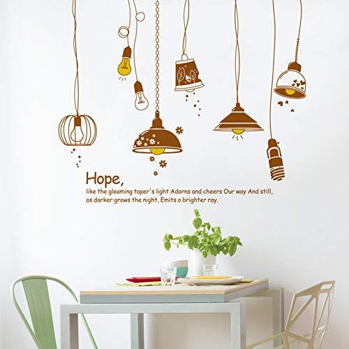 MWLSW Adesivo da Parete Stile Adesivi murali lampadario The Hope per Soggiorno Camera da Letto Cucina Decorazioni murali Decalcomanie Rimovibili
