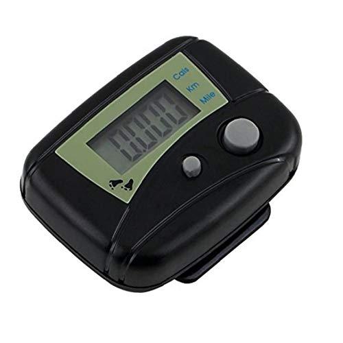 Precisa Mini Podómetro Electrónico Convenientes Paso Rastreador LCD Podómetro Contador De Calorías Corta Distancia con El Clip para Caminar Pasos Millas/Km Negro