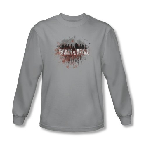 Dawn Of The Dead - Creeping Ombres shirt manches longues Homme en Argent, X-Large, Silver