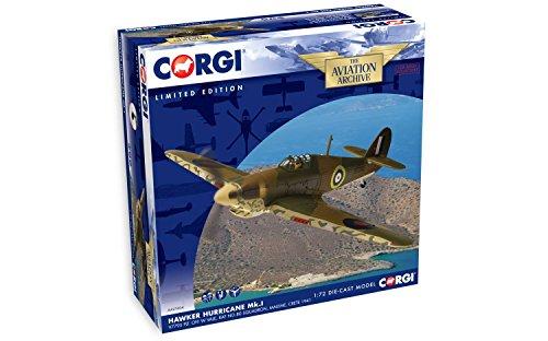 Corgi AA27604 Hawker Hurricane MK.I V7795 PLT. W RAF Vale Off No.80 Escadron Maleme Modèle